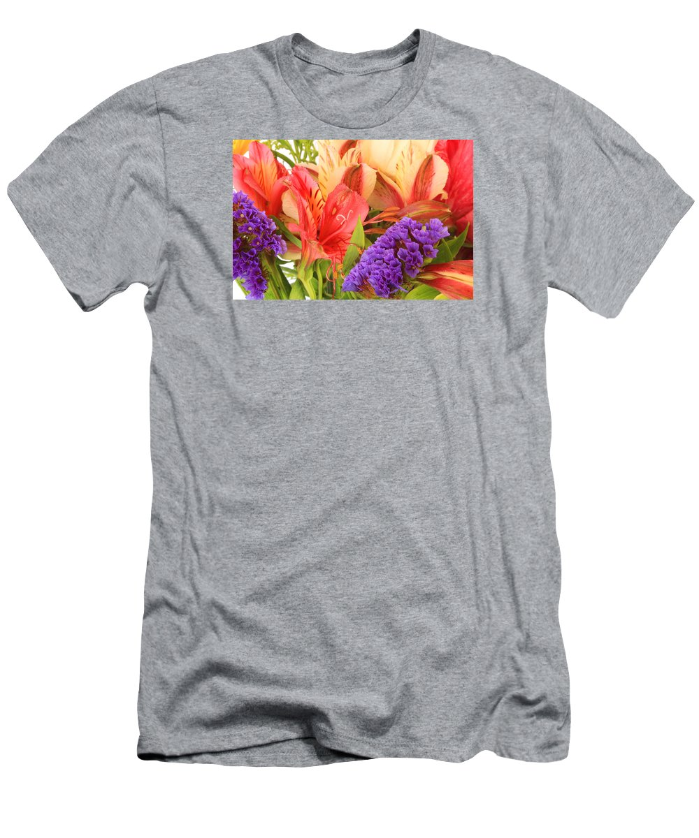 Flower Men's T-Shirt (Athletic Fit) featuring the photograph Colorful Bouquet Of Flowers by Robert Hamm