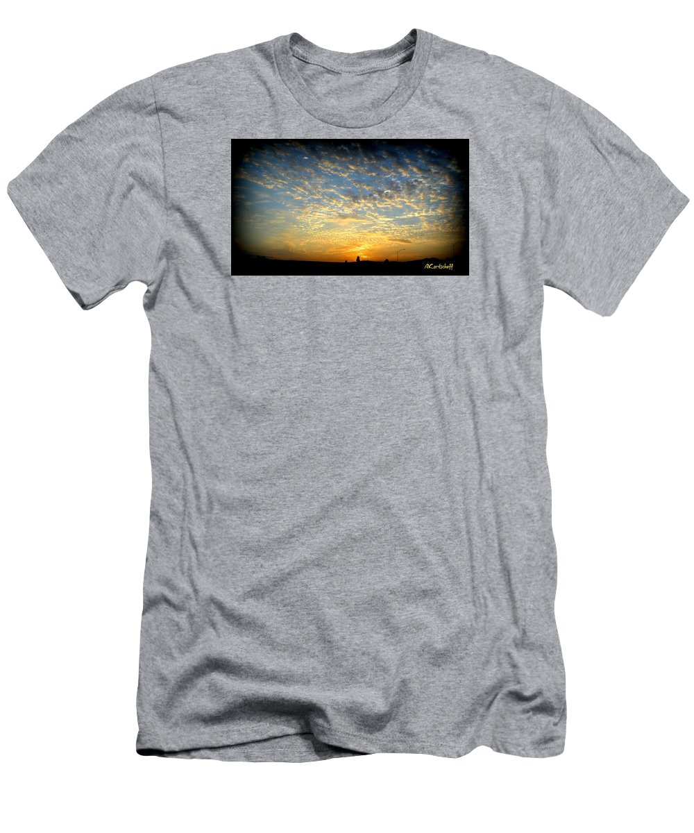 Men's T-Shirt (Athletic Fit) featuring the photograph Colorful California Sunset by Anatole Kortscheff