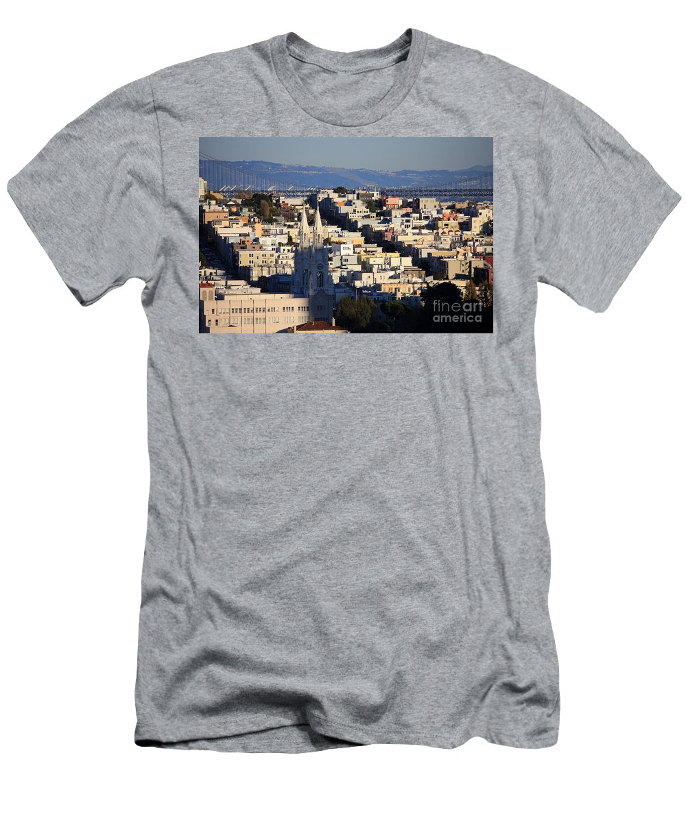 San Francisco Men's T-Shirt (Athletic Fit) featuring the photograph Colorful San Francisco by Carol Groenen