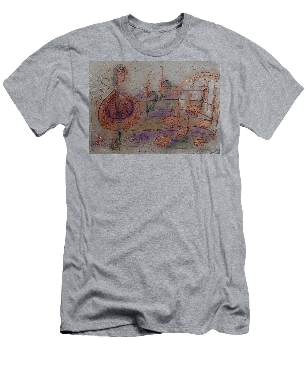 Impressionist Men's T-Shirt (Athletic Fit) featuring the painting Composition In B Flat by Anita Burgermeister