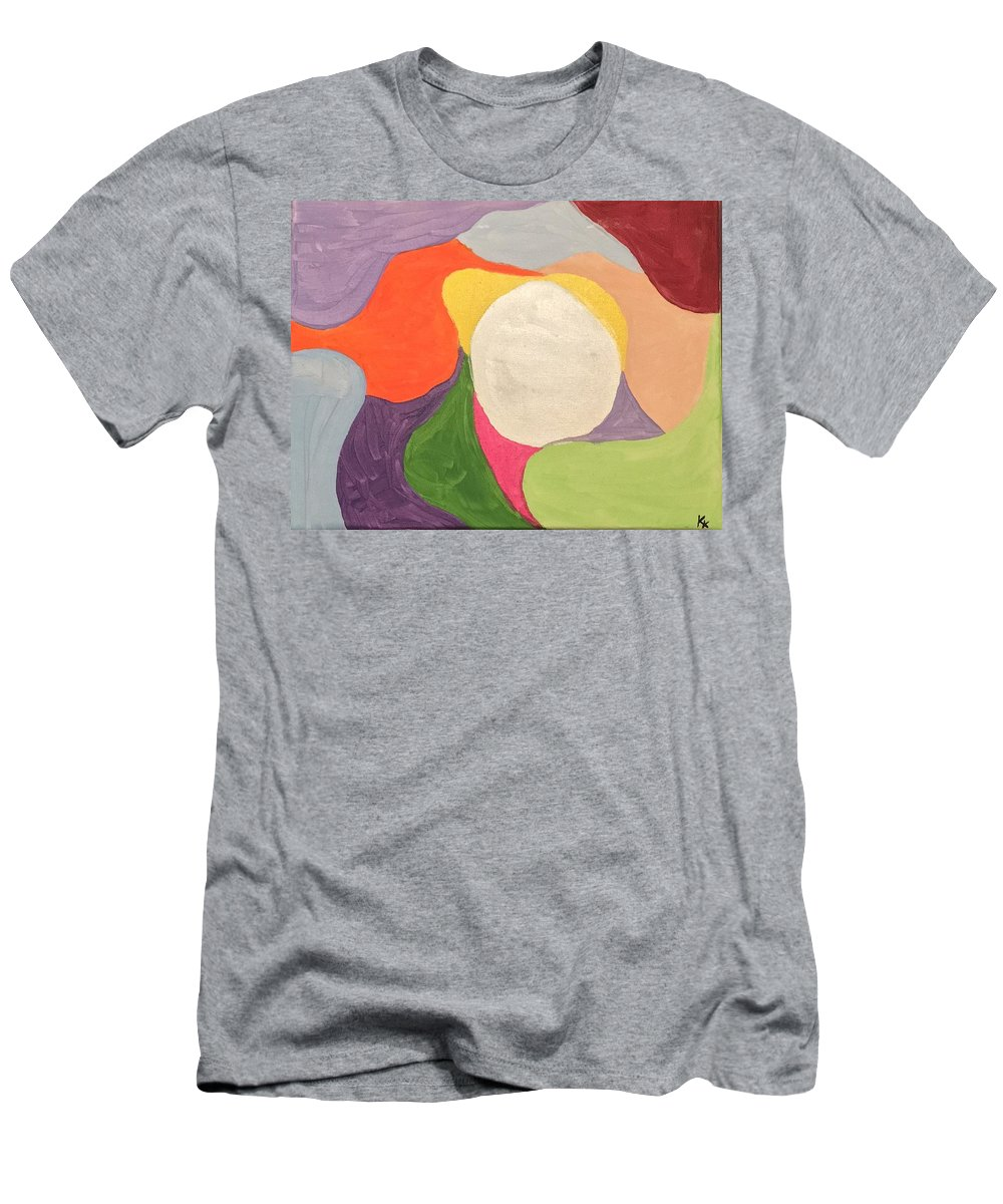 Abstract Men's T-Shirt (Athletic Fit) featuring the painting Confusion by Kristen Kerwin