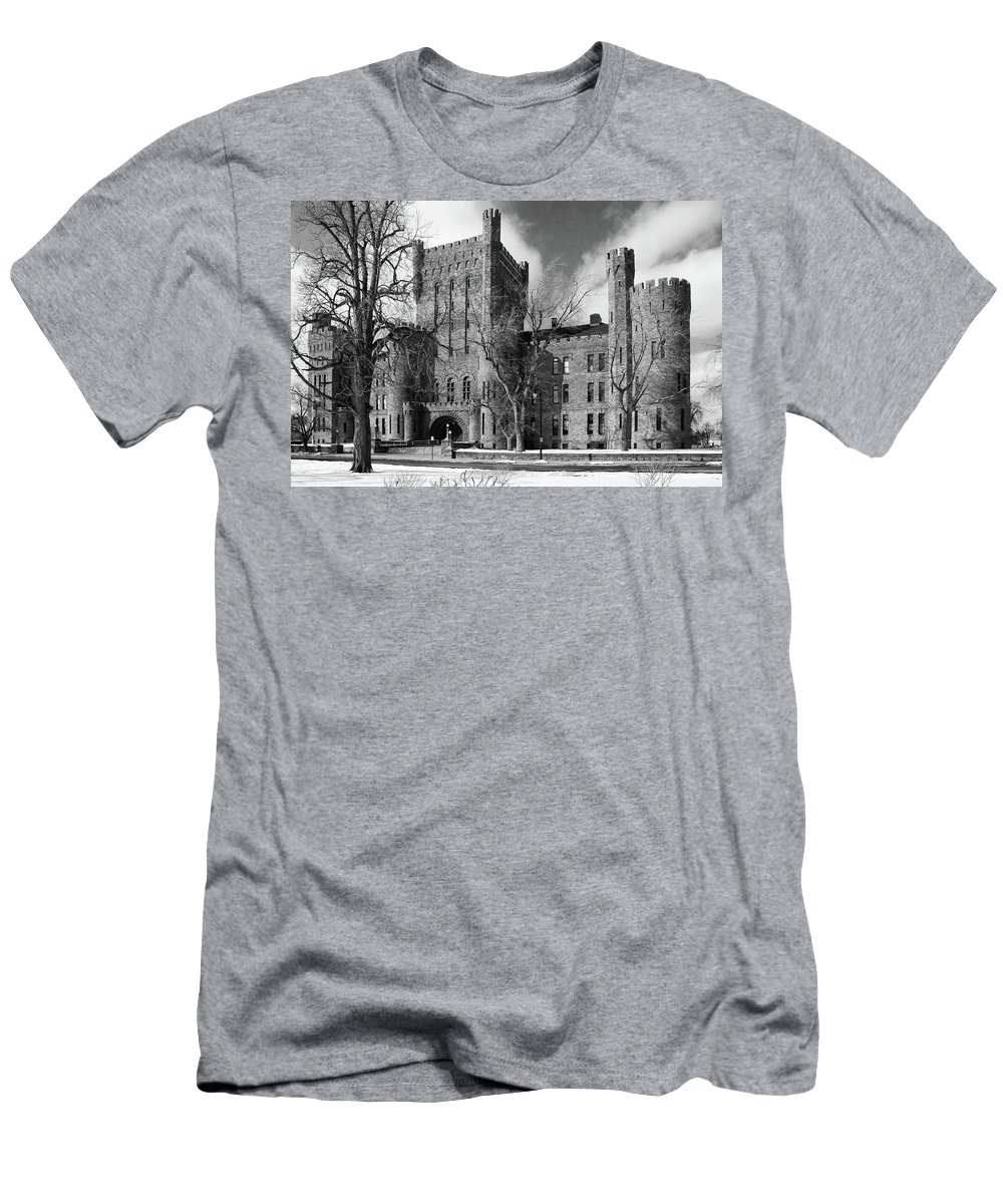 Armory Men's T-Shirt (Athletic Fit) featuring the photograph Connecticut Street Armory 3997b by Guy Whiteley