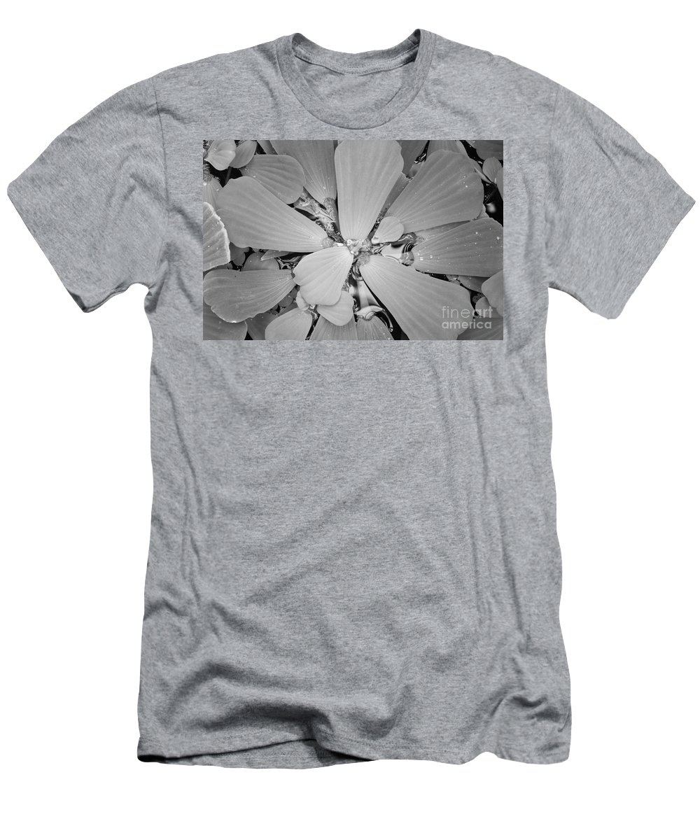 Nature Men's T-Shirt (Athletic Fit) featuring the photograph Conservatory Nature In Black And White 1 by Carol Groenen