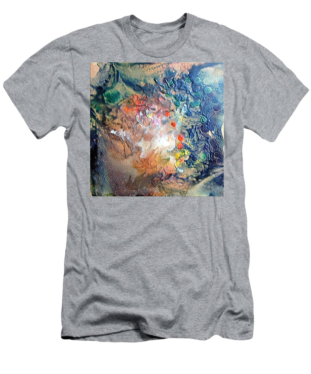Abstract Men's T-Shirt (Athletic Fit) featuring the painting Constellation Perseidi by Dragica Micki Fortuna