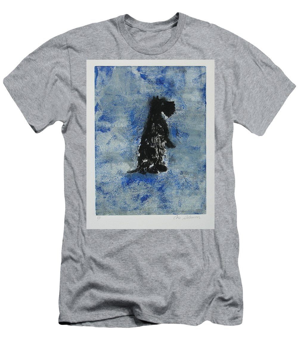Monotype Men's T-Shirt (Athletic Fit) featuring the mixed media Cool Blue by Cori Solomon