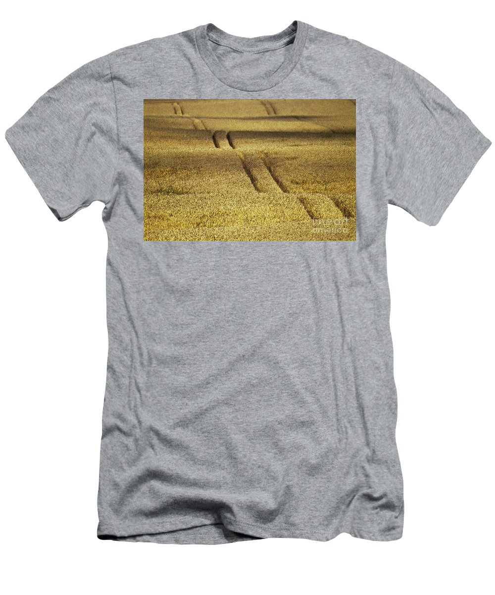 Heiko Men's T-Shirt (Athletic Fit) featuring the photograph Cornfield by Heiko Koehrer-Wagner