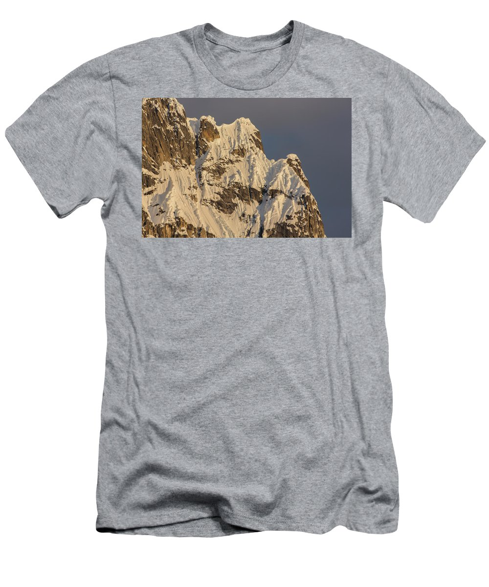 Alaska Men's T-Shirt (Athletic Fit) featuring the photograph Cornices On The Rooster Comb by Tim Grams