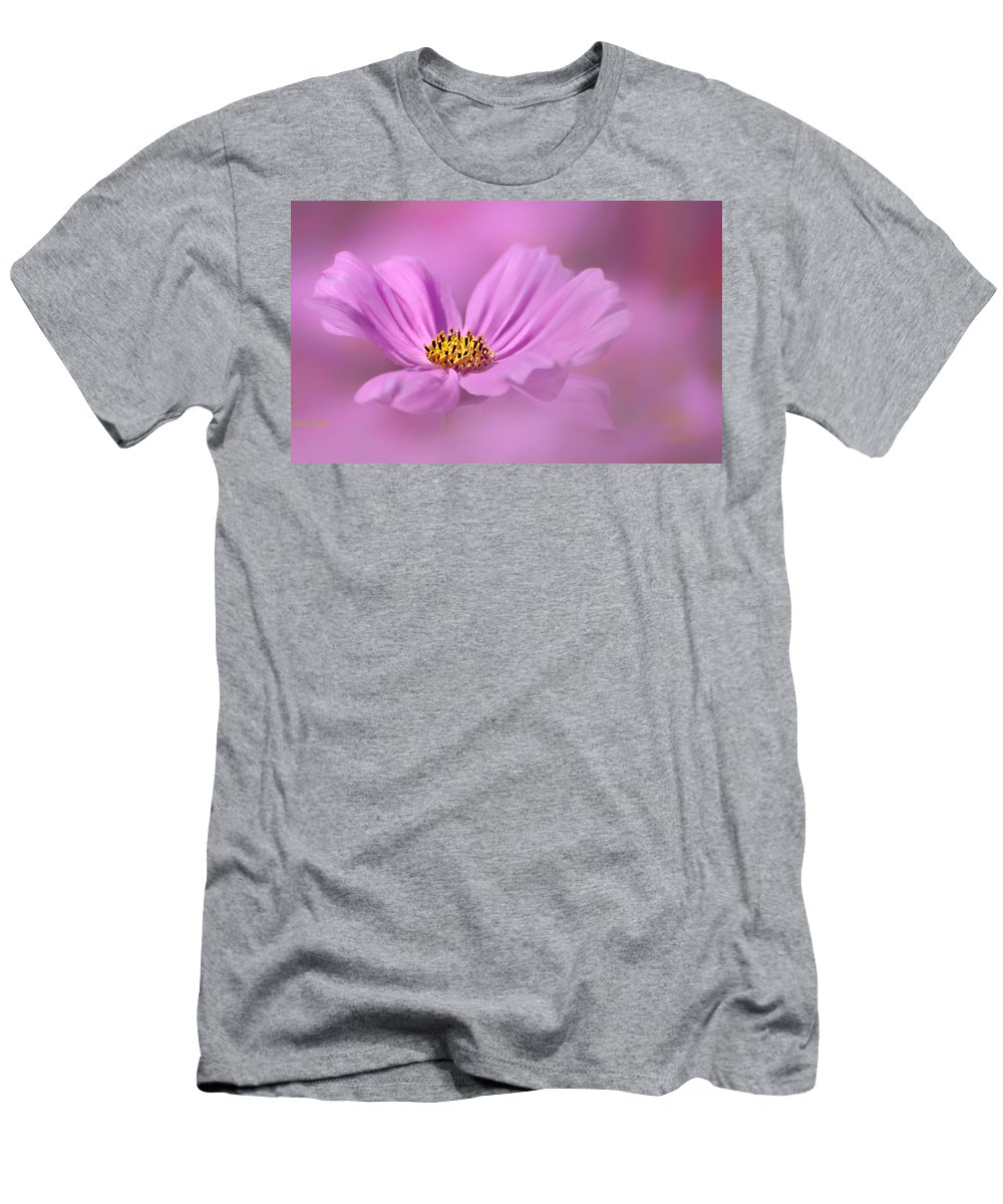 Carol Eade Men's T-Shirt (Athletic Fit) featuring the photograph Cosmos by Carol Eade