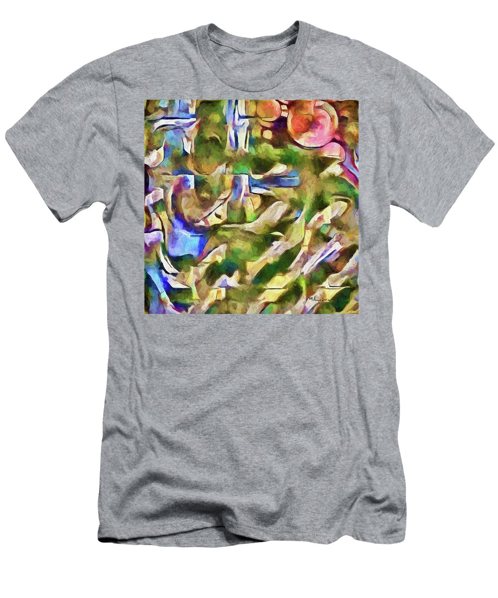Colorful Men's T-Shirt (Athletic Fit) featuring the digital art Could Cezanne Be Any Prouder by Mike Butler