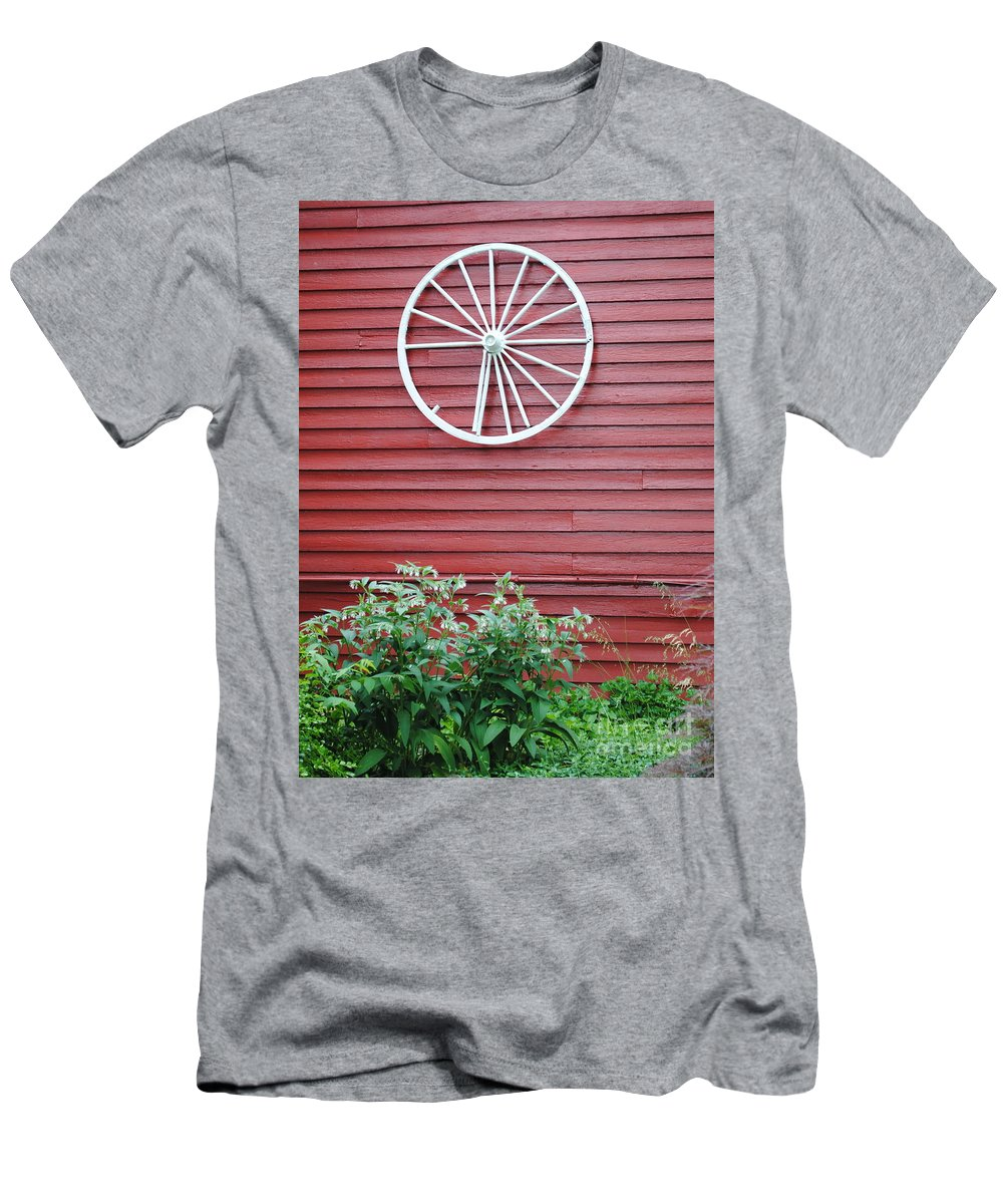 Country Men's T-Shirt (Athletic Fit) featuring the photograph Country Wheel by Jost Houk