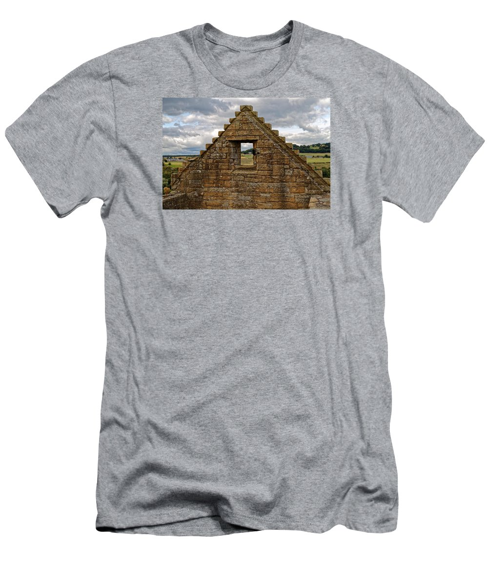 Old Castle Men's T-Shirt (Athletic Fit) featuring the photograph Countryside View by Scott Hill