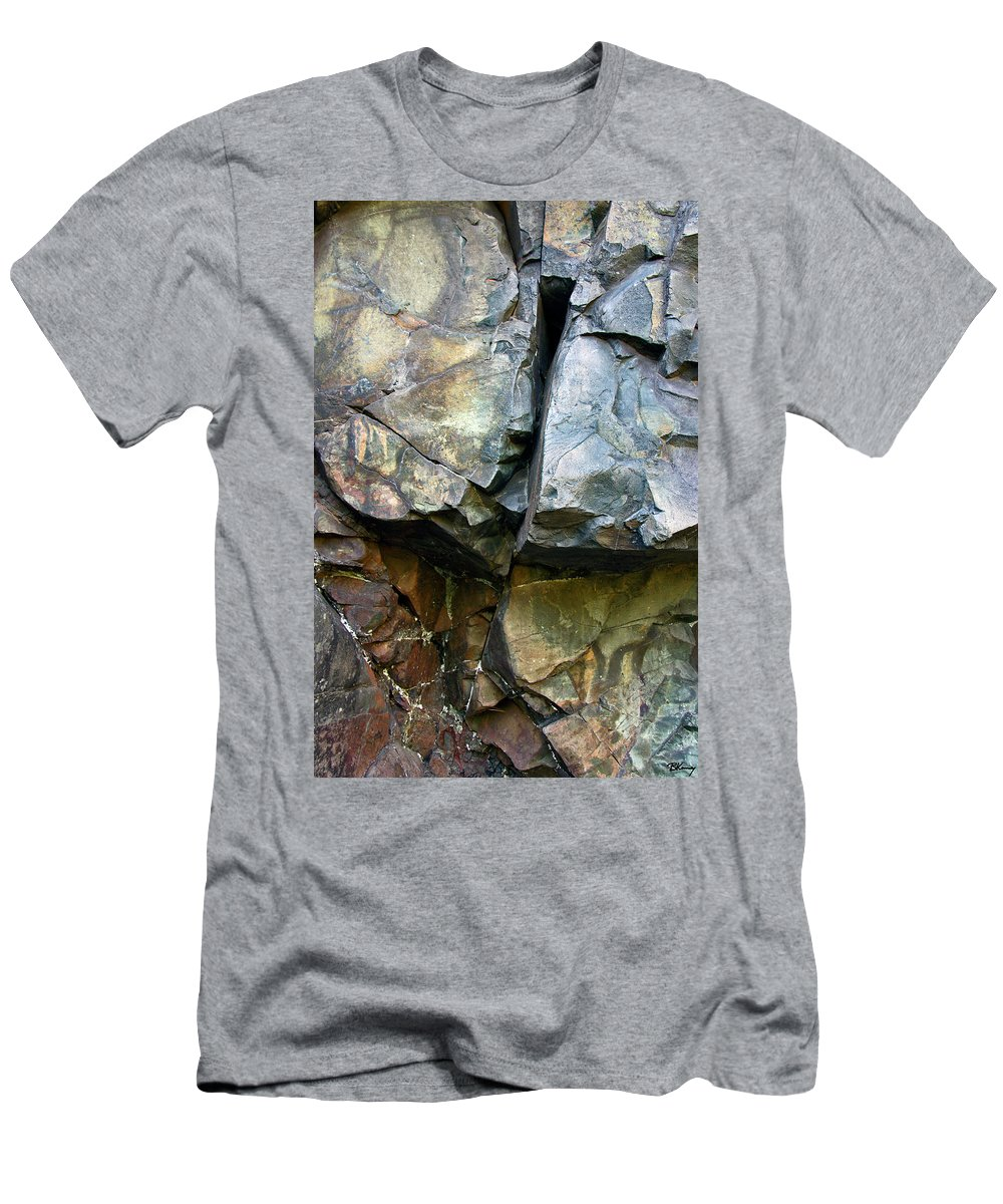 Croix Men's T-Shirt (Athletic Fit) featuring the photograph Croix Stone 1 by Brian Kenney