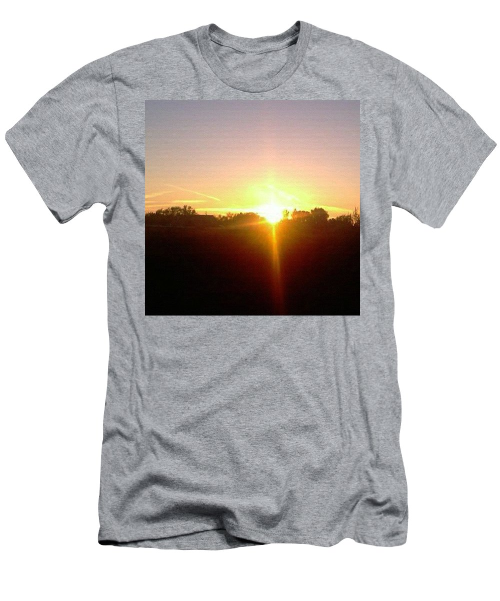 Men's T-Shirt (Athletic Fit) featuring the photograph Cross In The Sky by Richard Brooke