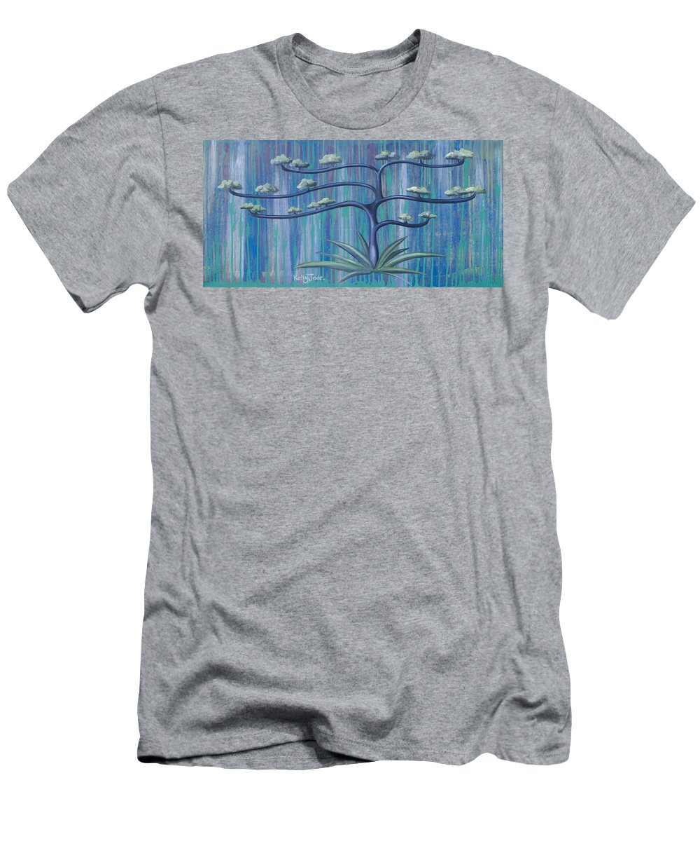 Tree Men's T-Shirt (Athletic Fit) featuring the painting Cross Tree by Kelly Jade King