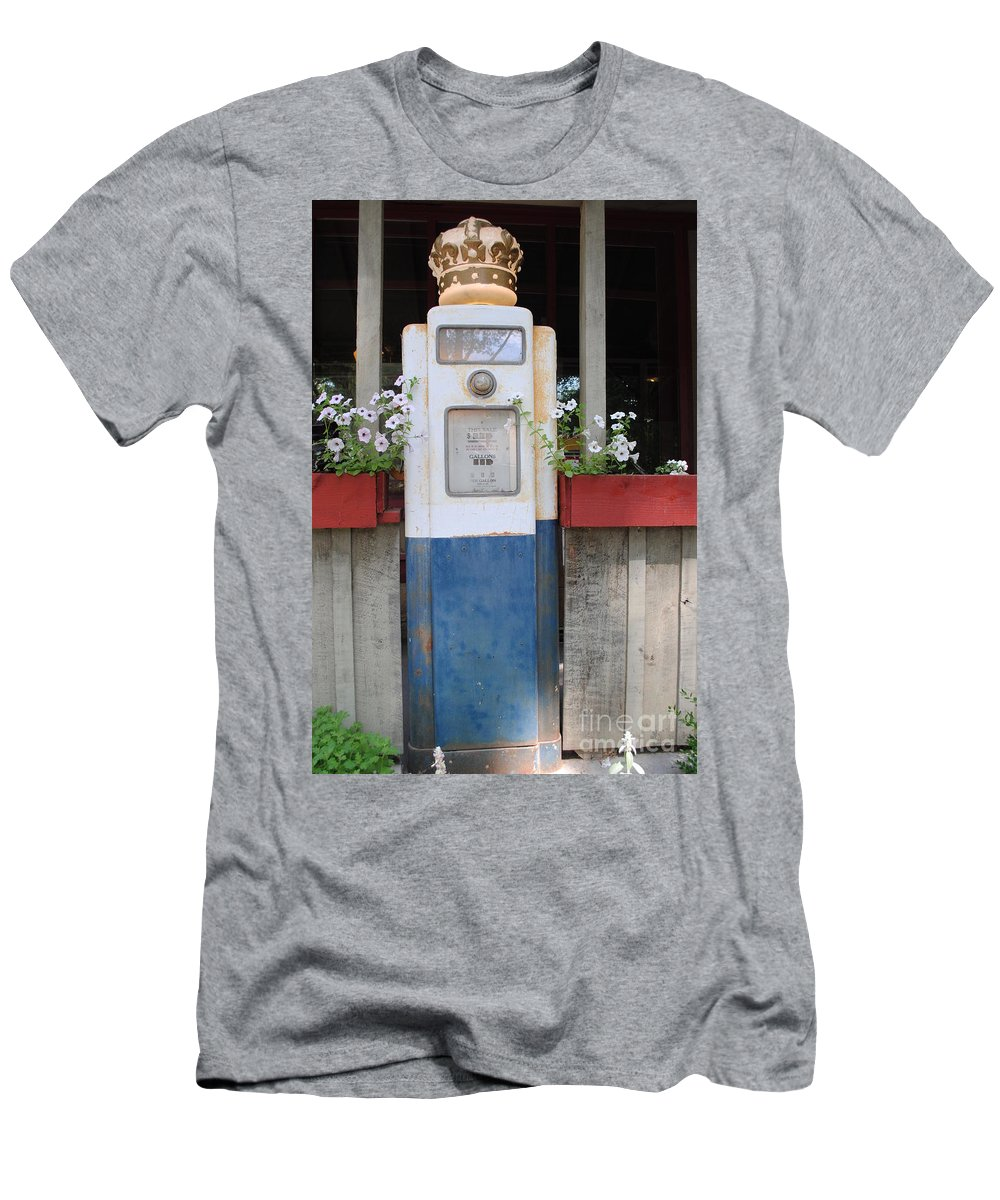 Standard Oil Men's T-Shirt (Athletic Fit) featuring the photograph Crown Blue by Jost Houk