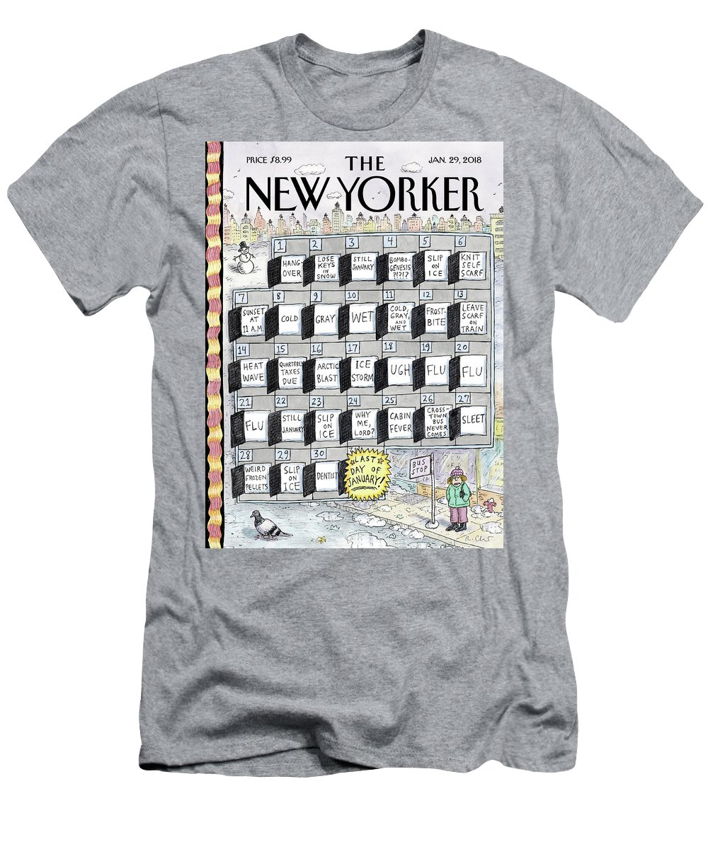 Cruellest Month T-Shirt featuring the painting Cruellest Month by Roz Chast