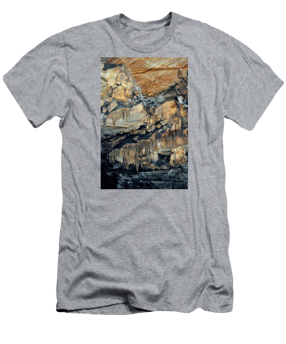 Sequoia National Park Men's T-Shirt (Athletic Fit) featuring the photograph Crystal Cave Marble Sequoia Portrait by Kyle Hanson