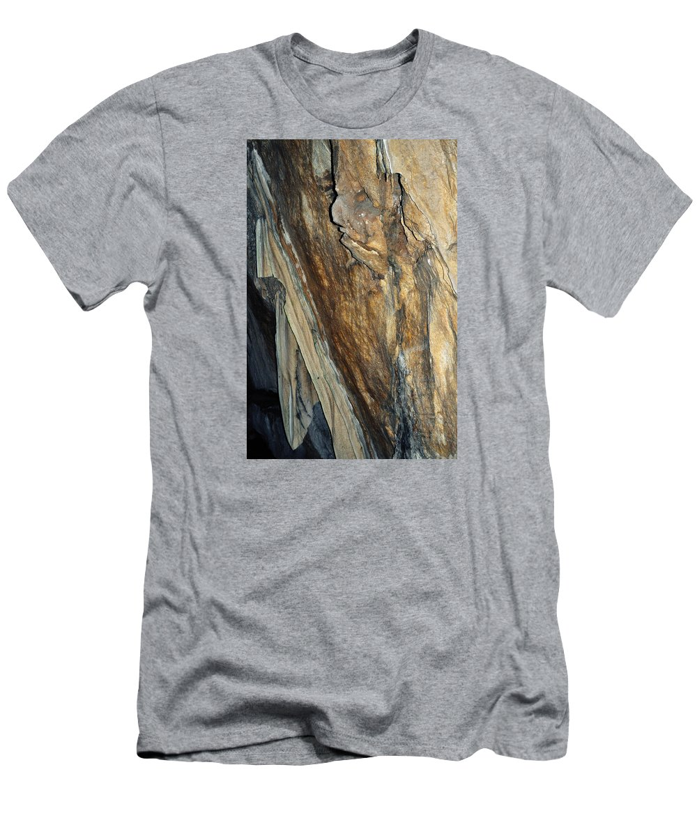 Sequoia National Park Men's T-Shirt (Athletic Fit) featuring the photograph Crystal Cave Walls by Kyle Hanson