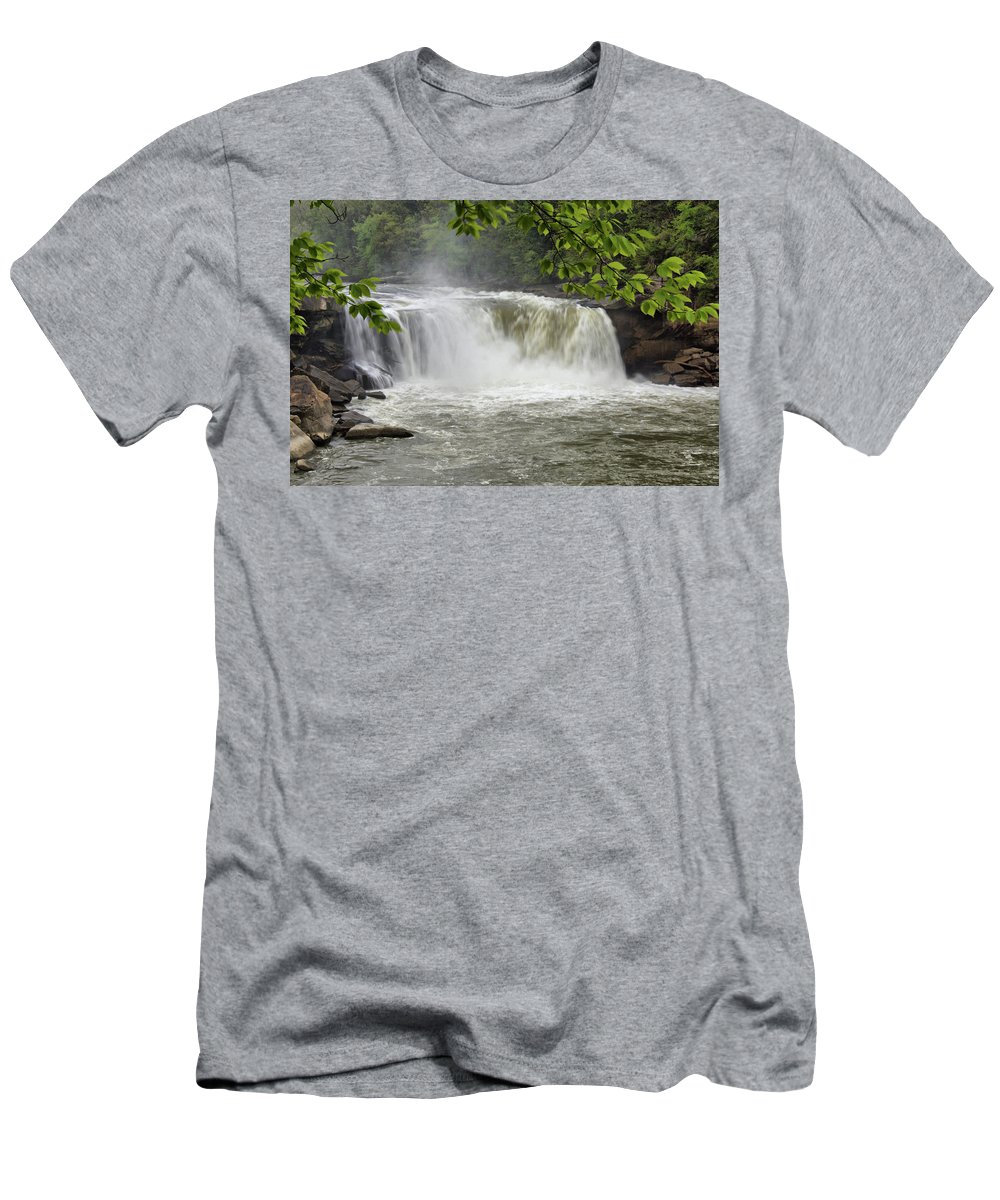 Cumberland Falls Men's T-Shirt (Athletic Fit) featuring the photograph Cumberland Falls Close-up by Sandy Keeton