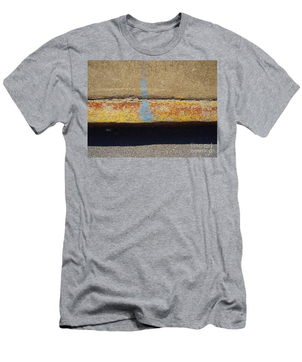 Abstract Men's T-Shirt (Athletic Fit) featuring the photograph Curb by Flavia Westerwelle
