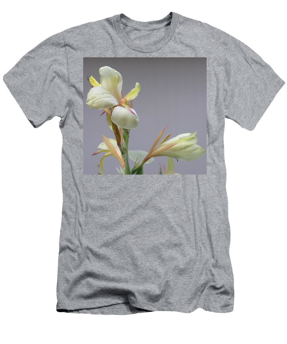 Yellow Men's T-Shirt (Athletic Fit) featuring the photograph Dainty Orchid by Mary Deal