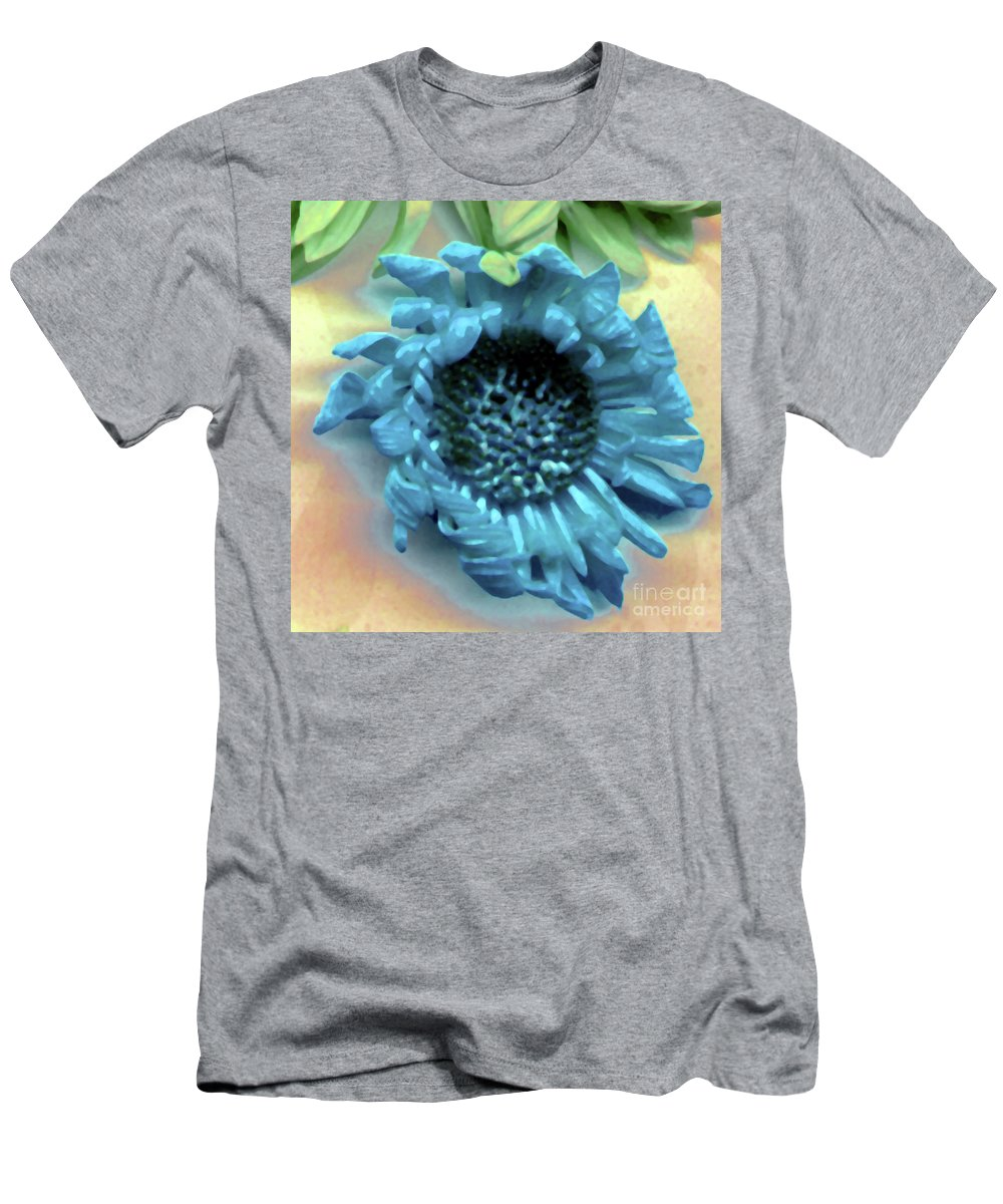 Men's T-Shirt (Athletic Fit) featuring the photograph Daisy Blue by Heather Kirk