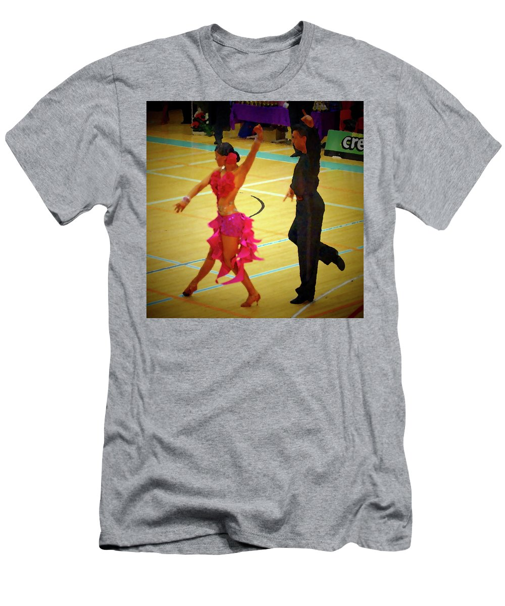 Lehtokukka Men's T-Shirt (Athletic Fit) featuring the photograph Dance Contest Nr 06 by Jouko Lehto