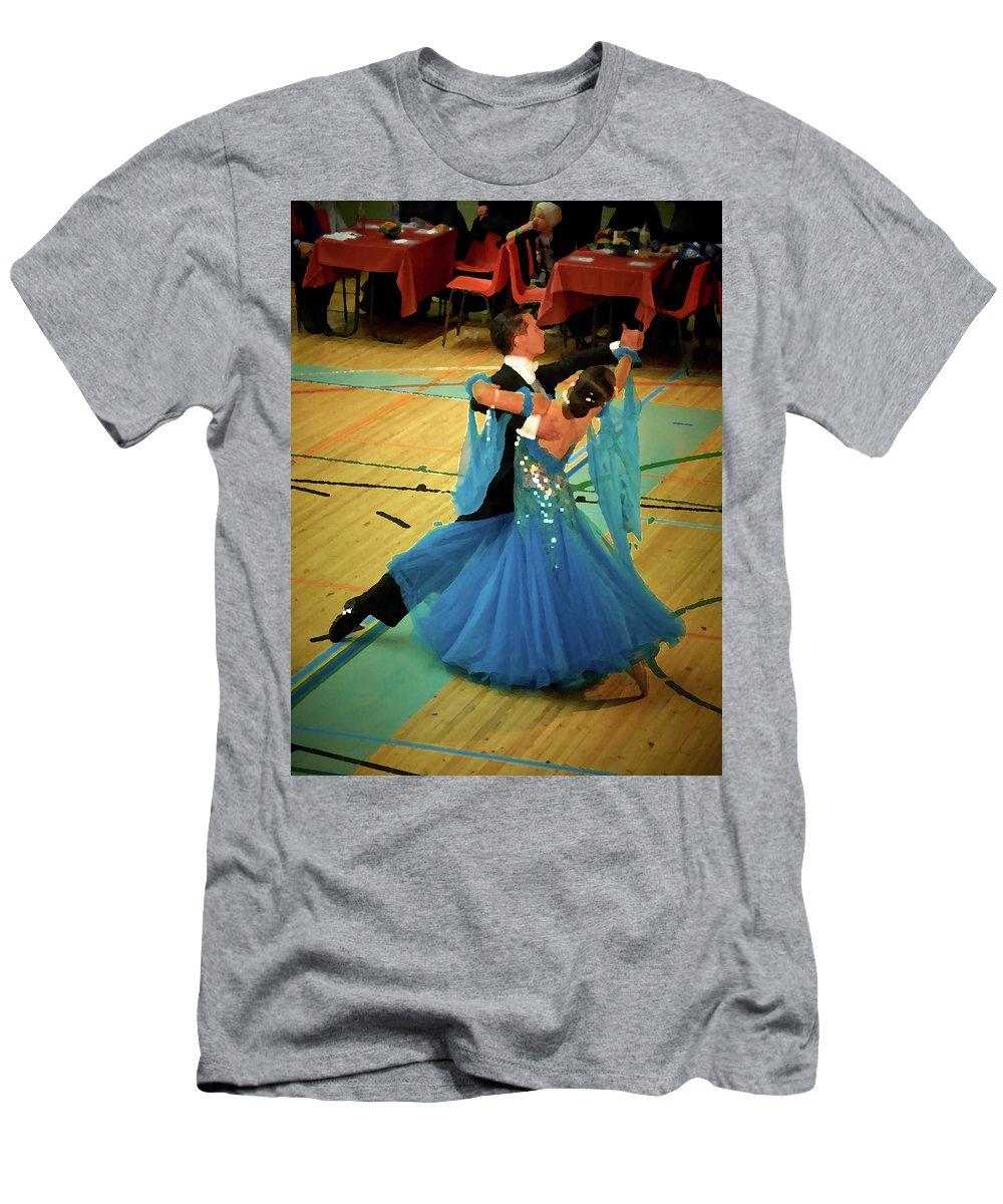 Lehtokukka Men's T-Shirt (Athletic Fit) featuring the photograph Dance Contest Nr 14 by Jouko Lehto