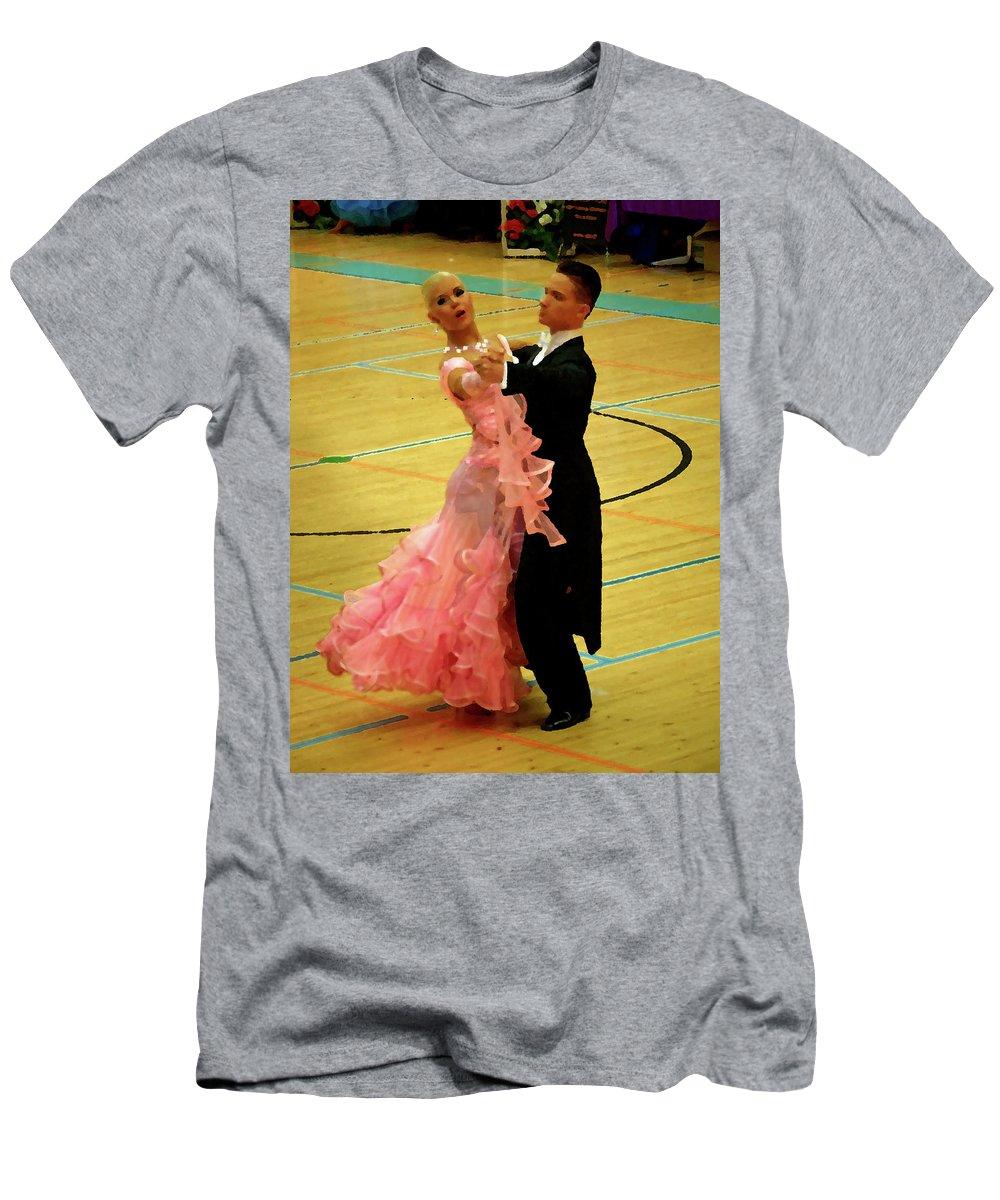 Lehtokukka Men's T-Shirt (Athletic Fit) featuring the photograph Dance Contest Nr 17 by Jouko Lehto