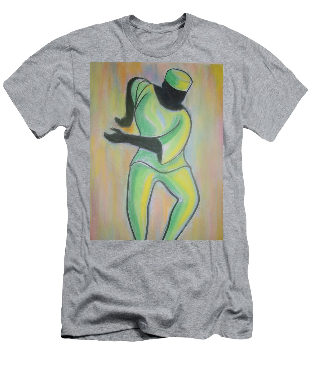 Men's T-Shirt (Athletic Fit) featuring the drawing Dance Of Joy by Jan Gilmore