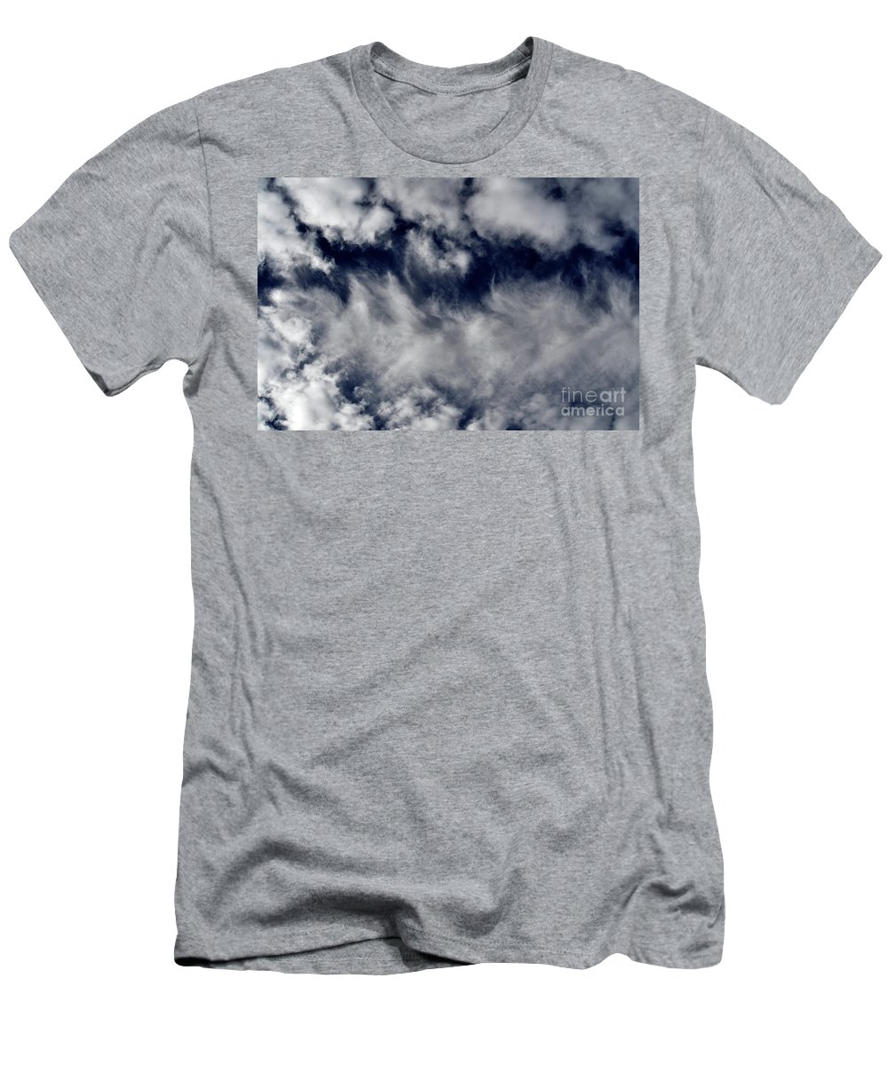 Clay Men's T-Shirt (Athletic Fit) featuring the photograph Dancing Clouds by Clayton Bruster