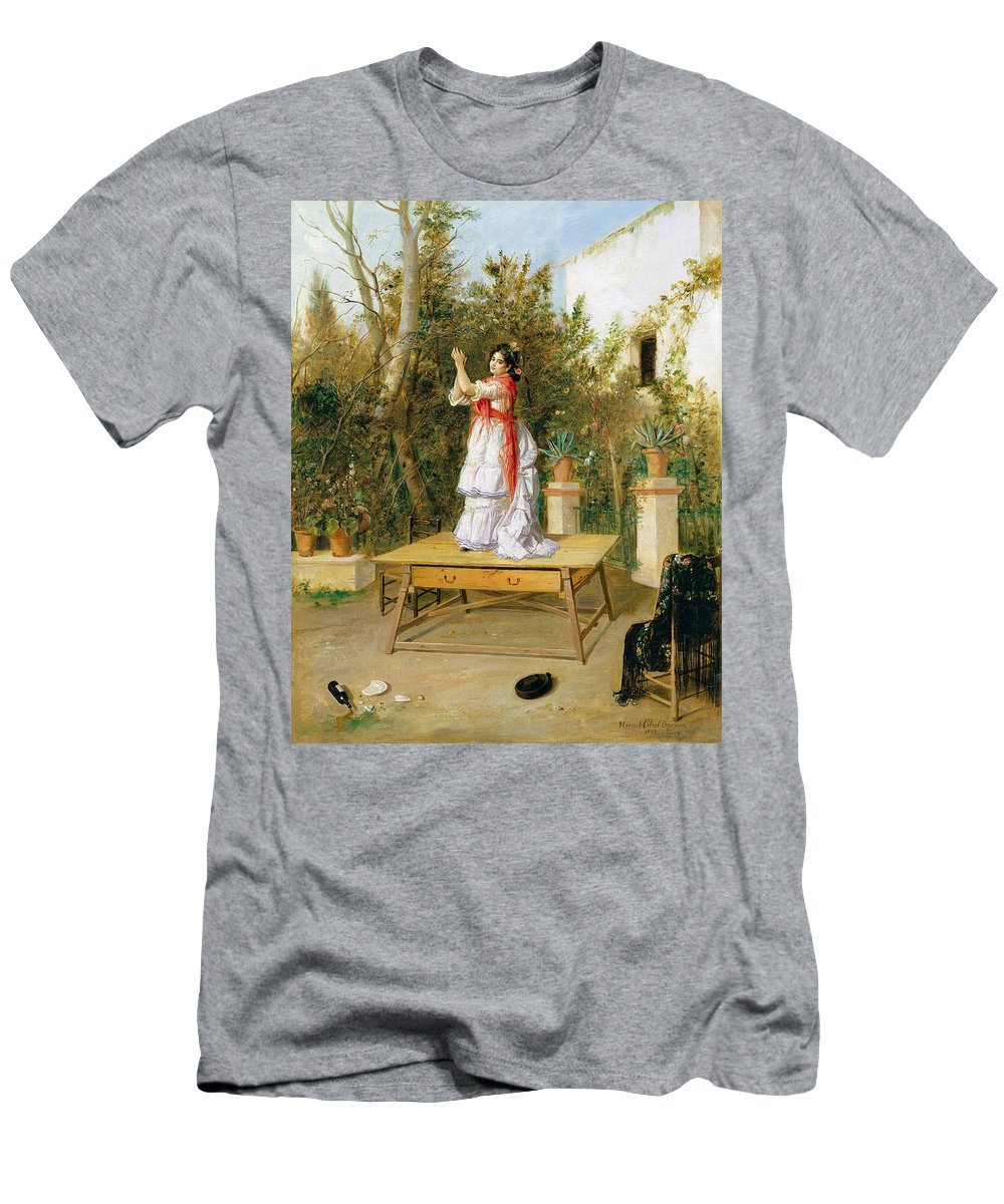 Manuel Cabral Aguado Bejarano Men's T-Shirt (Athletic Fit) featuring the painting Dancing by Manuel Cabral