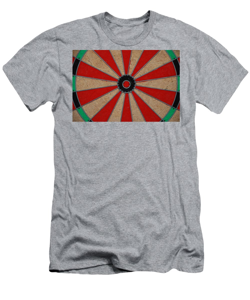 Art Men's T-Shirt (Athletic Fit) featuring the photograph Dart Board by Rob Hans