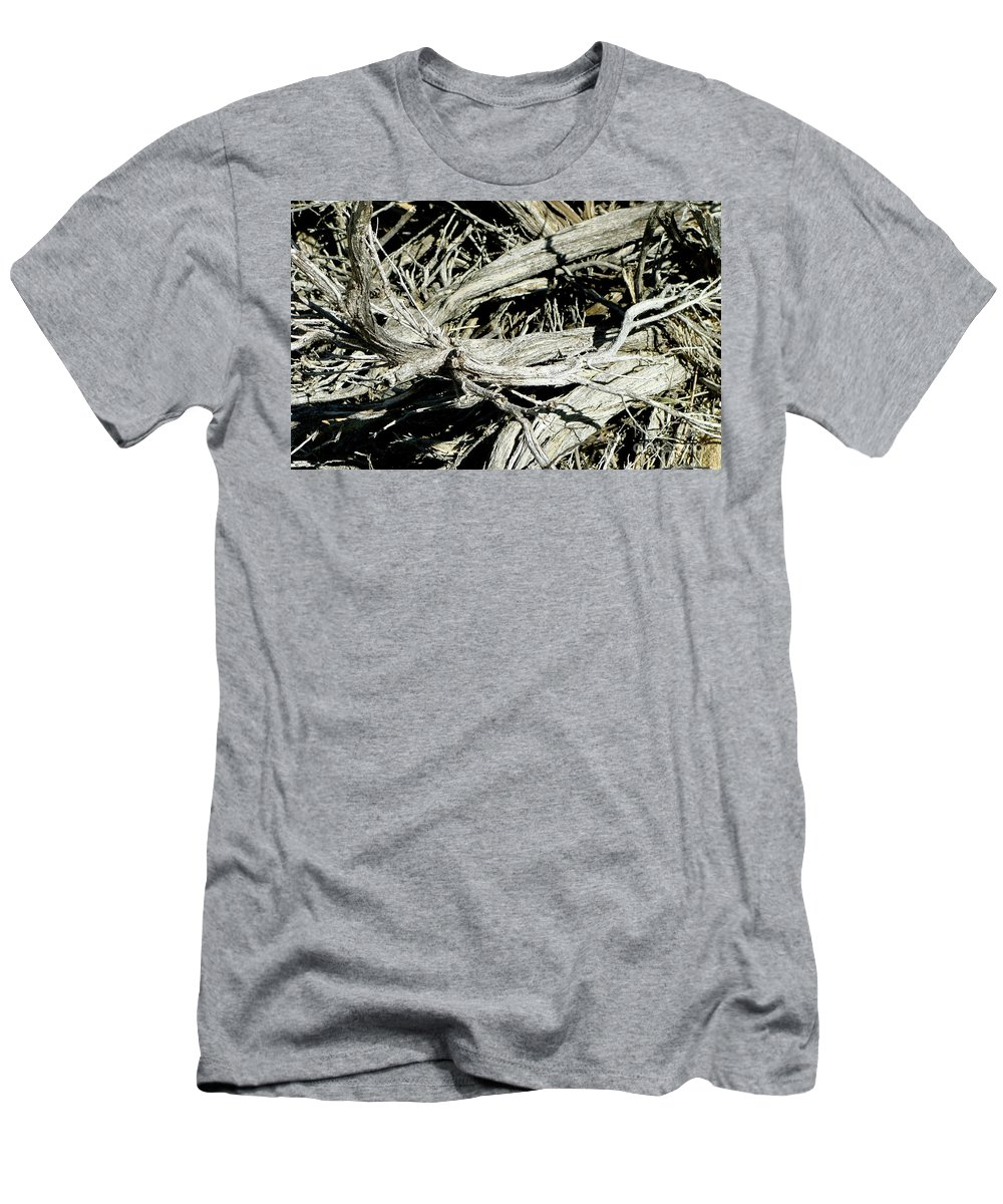 Photos Men's T-Shirt (Athletic Fit) featuring the photograph Dead Joshua Wood by Bruce Peterson