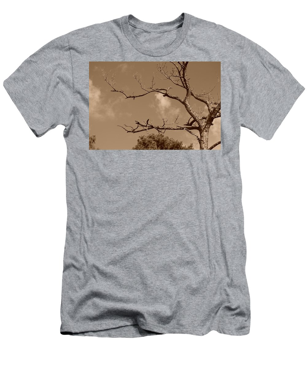 Sepia Men's T-Shirt (Athletic Fit) featuring the photograph Dead Wood by Rob Hans