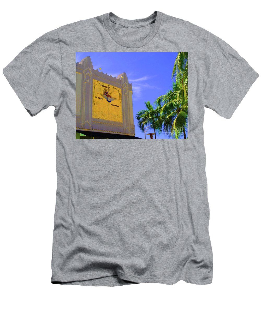 Cadillac Men's T-Shirt (Athletic Fit) featuring the photograph Deco Cadillac by Jost Houk