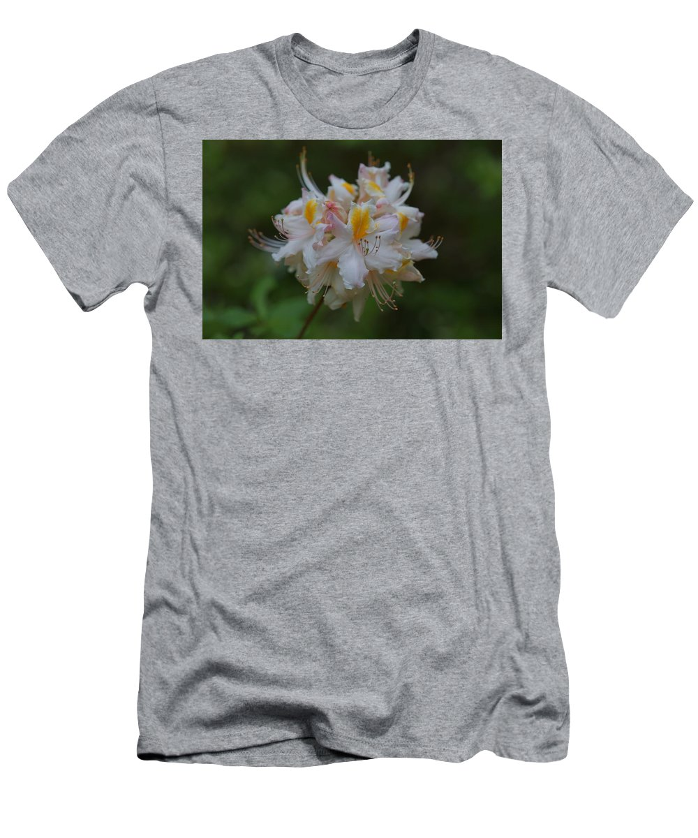 Azalea Men's T-Shirt (Athletic Fit) featuring the photograph Deep In The Forest by Carrie Goeringer