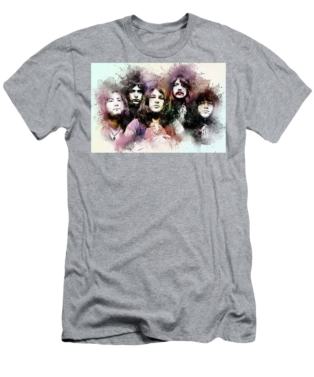 Ritchie Blackmore Men's T-Shirt (Athletic Fit) featuring the digital art Deep Purple.rock Stars by Elizabeth Simon