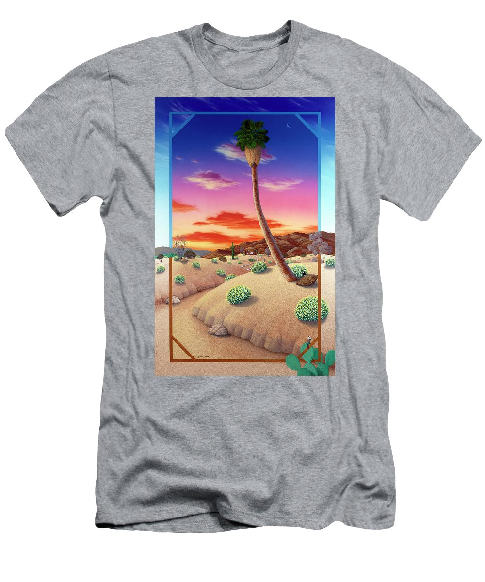 Landscape Men's T-Shirt (Athletic Fit) featuring the painting Desert Gazebo by Snake Jagger