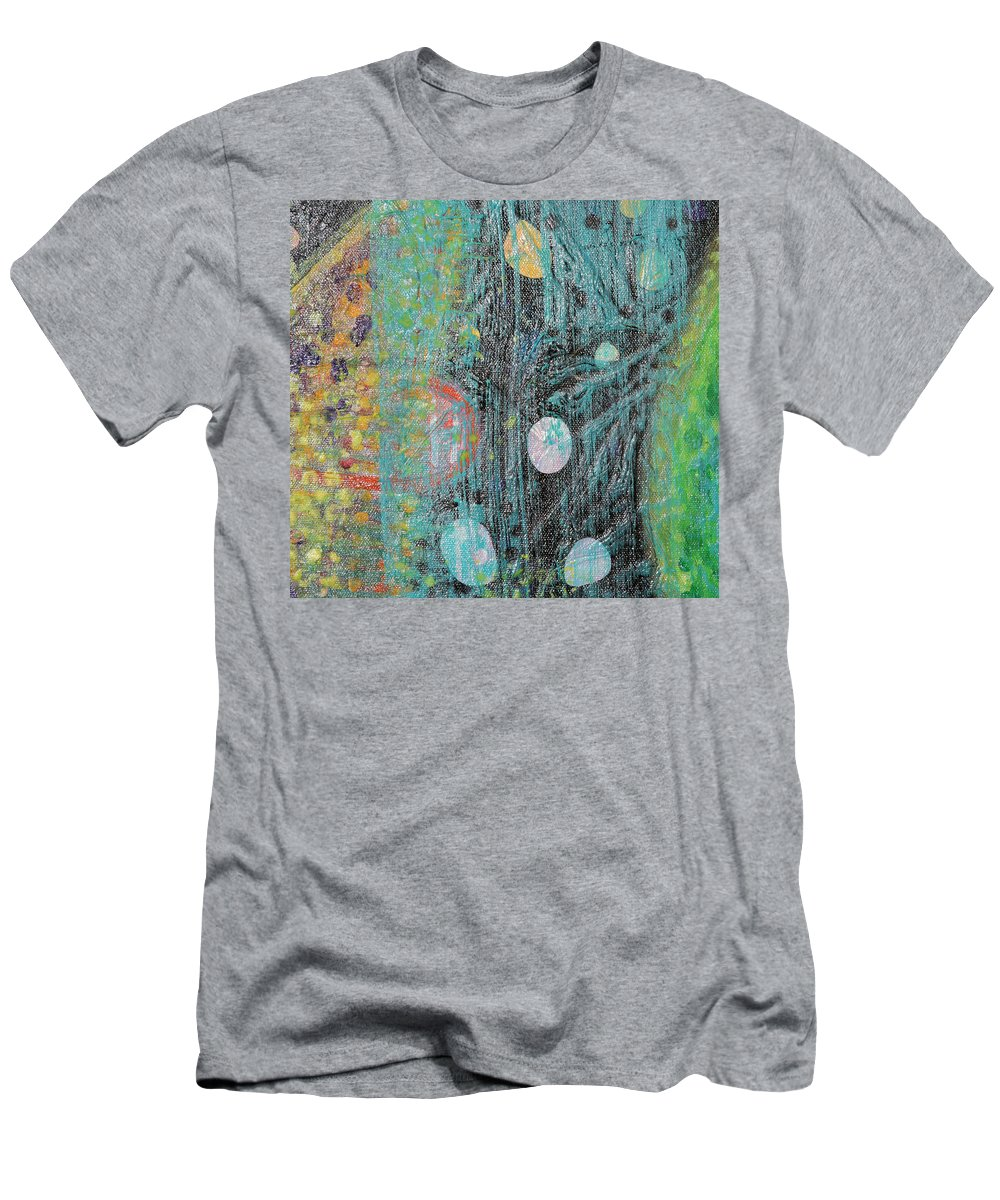 Psychedelic Men's T-Shirt (Athletic Fit) featuring the painting Detail From Creation Of Adam And Eve by Anne Cameron Cutri