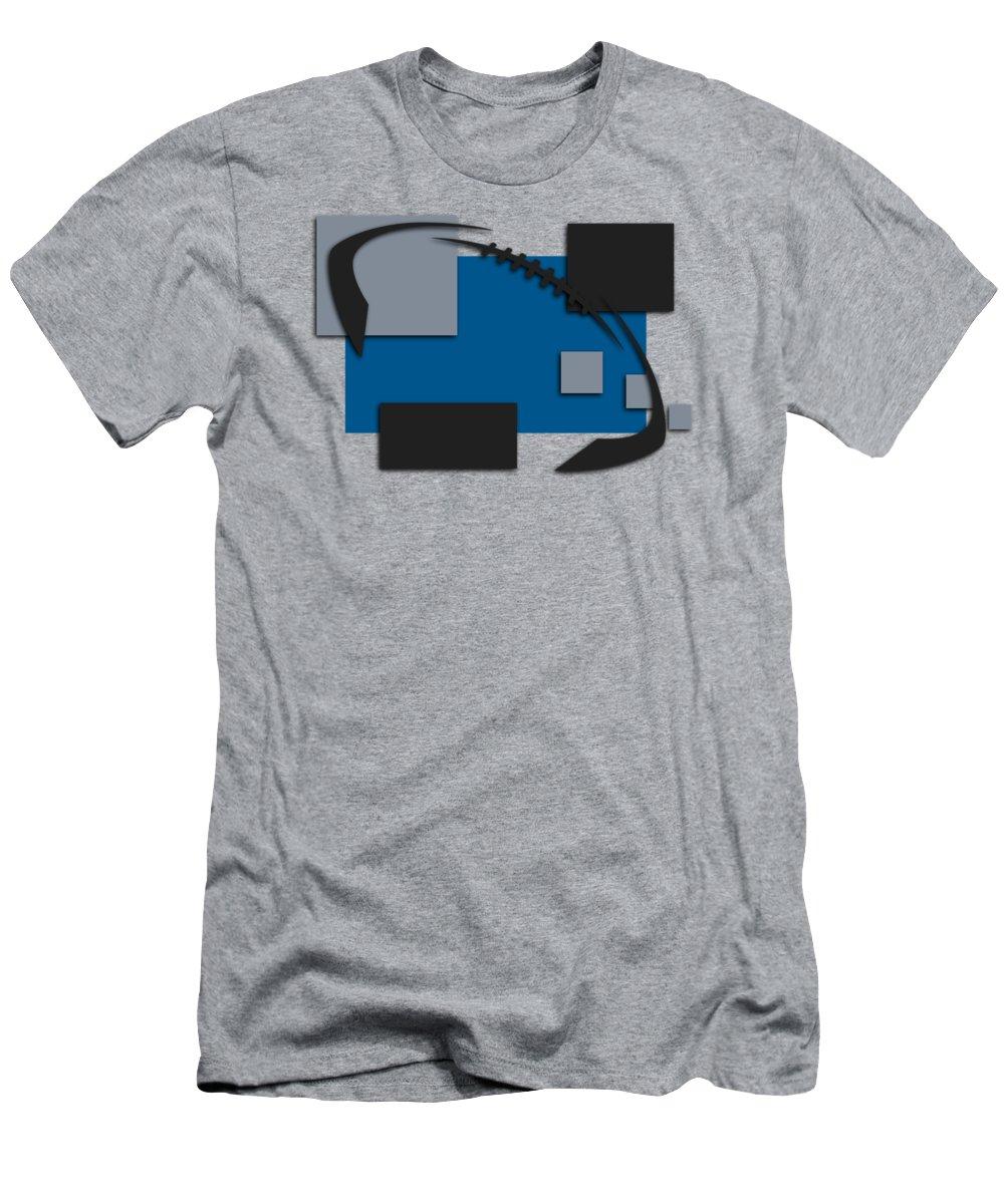Lions Men's T-Shirt (Athletic Fit) featuring the photograph Detroit Lions Abstract Shirt by Joe Hamilton