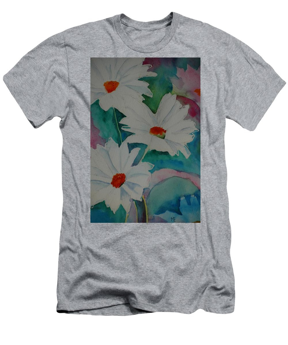 Daisies Men's T-Shirt (Athletic Fit) featuring the painting Devin's Dasies by Melinda Etzold