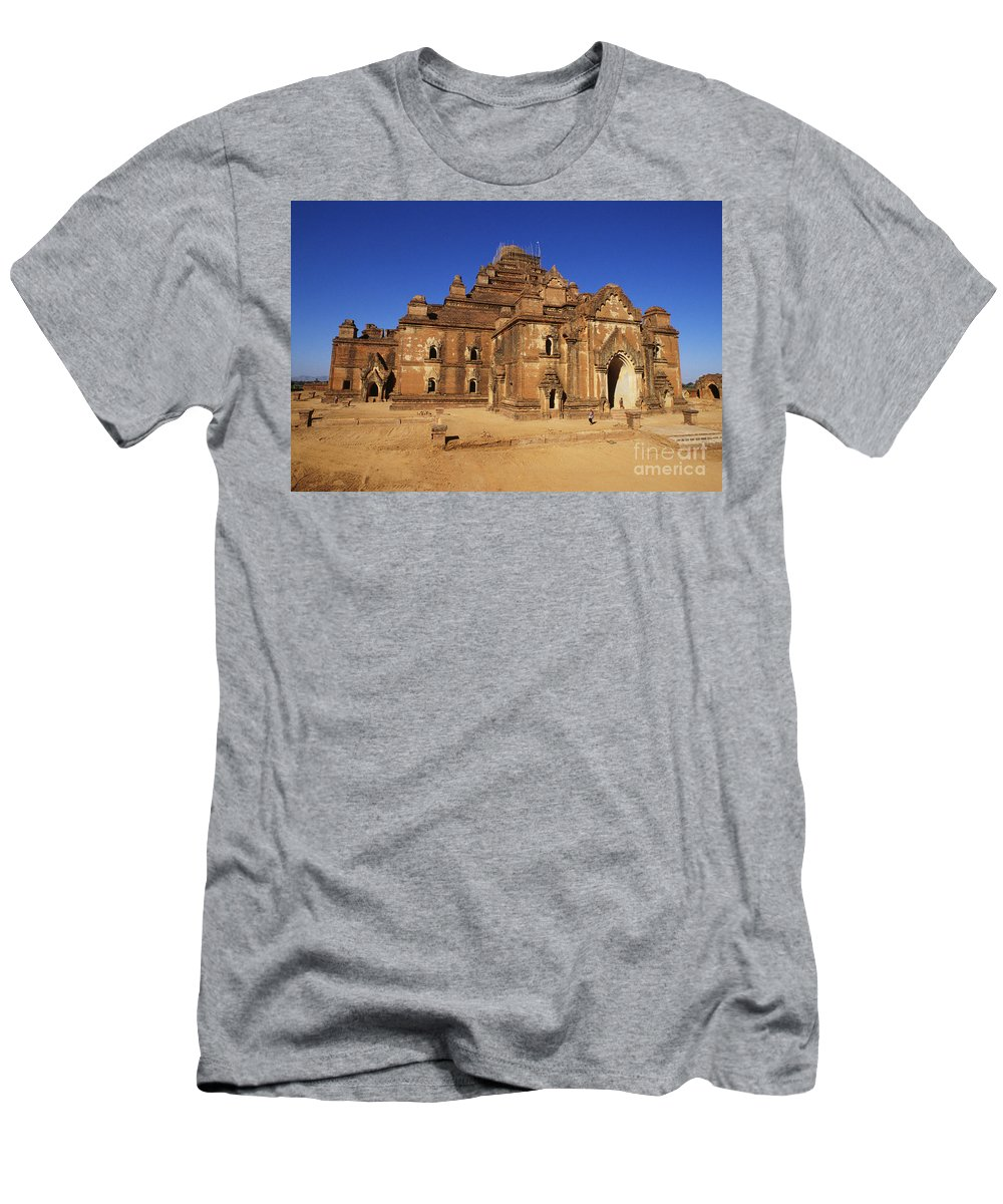 Ancient Men's T-Shirt (Athletic Fit) featuring the photograph Dhammayangyi Temple by William Waterfall - Printscapes