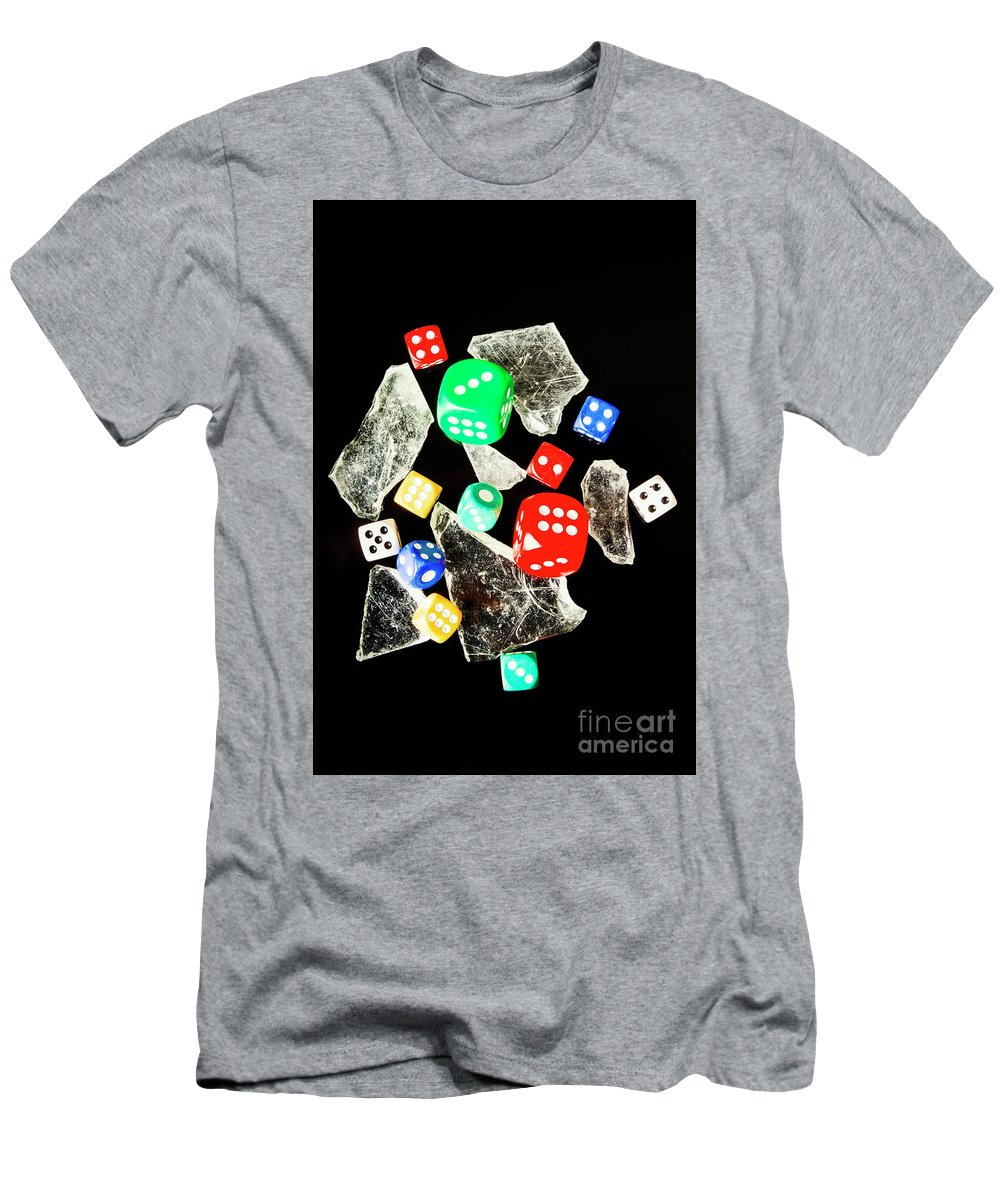 Game Men's T-Shirt (Athletic Fit) featuring the photograph Dicing With Chance by Jorgo Photography - Wall Art Gallery