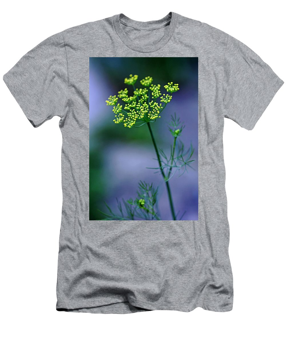 Dill Men's T-Shirt (Athletic Fit) featuring the photograph Dill Sprig by Debbie Oppermann
