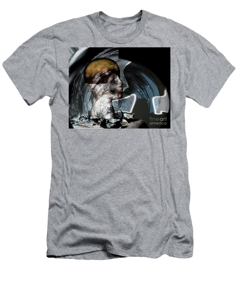 Head Men's T-Shirt (Athletic Fit) featuring the photograph Discombobulation by Stacey Trujillo