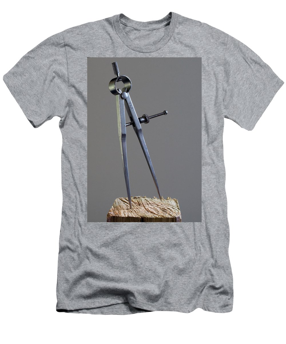 Divider; Divide; Measure; Dimension; Scale; Compass; Draft; Drafting; Draw; Drawing; Paper; Plans; B Men's T-Shirt (Athletic Fit) featuring the photograph Divider by Allan Hughes