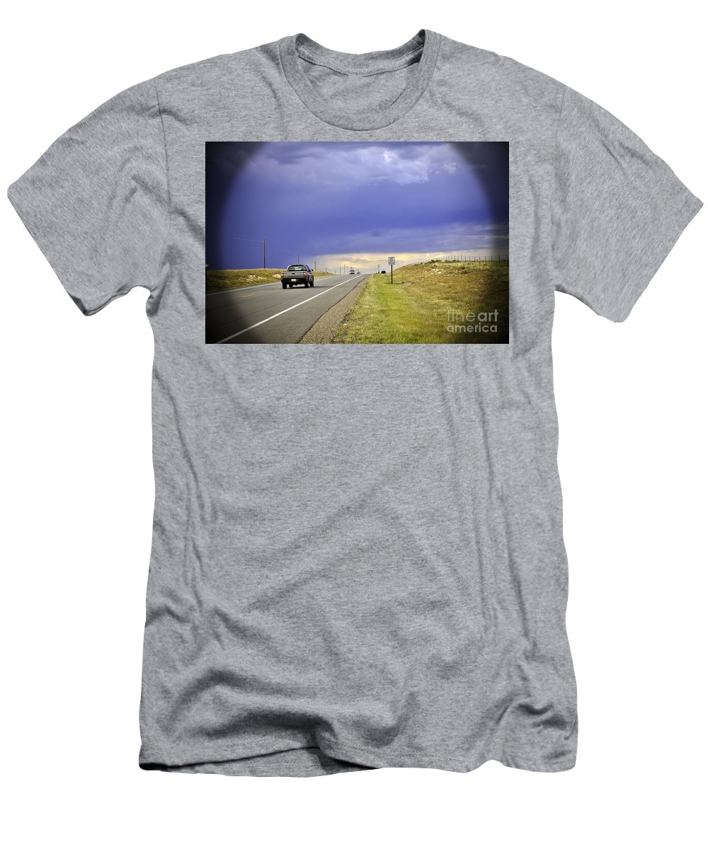 Automobile Men's T-Shirt (Athletic Fit) featuring the photograph Do Not Pass by Madeline Ellis
