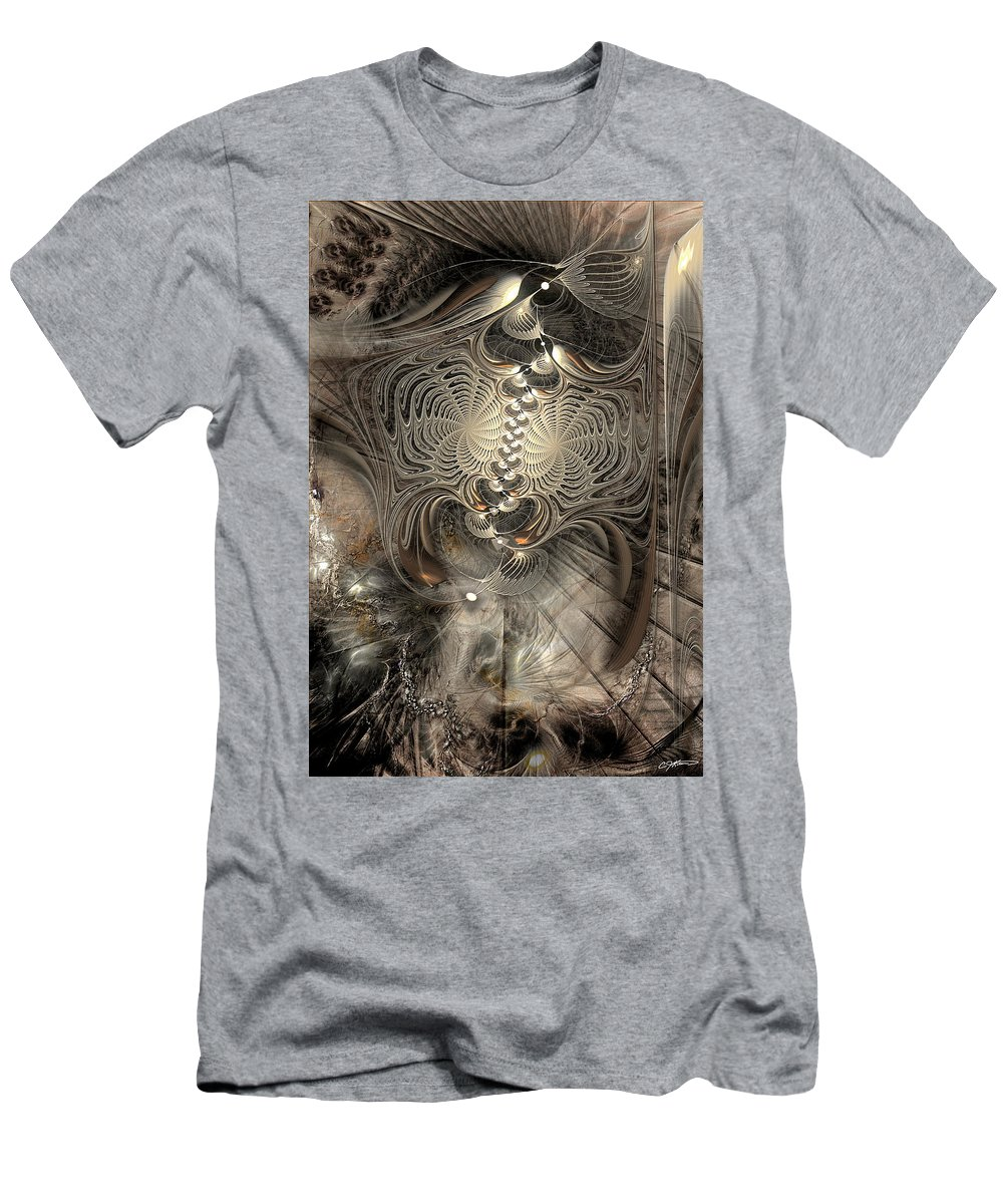 Abstract Men's T-Shirt (Athletic Fit) featuring the digital art Doctrinal Entrapment by Casey Kotas