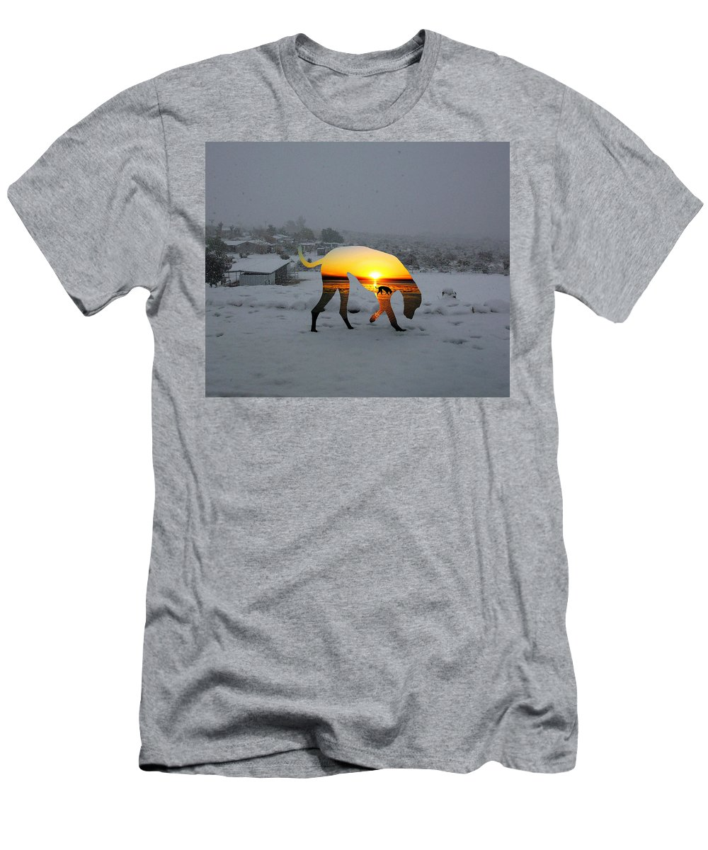 Landscape Men's T-Shirt (Athletic Fit) featuring the photograph Dog Day Afternoon by Snake Jagger